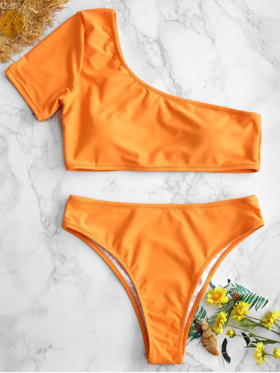 best ZAFUL One Shoulder Bikini - LIGHT SALMON M