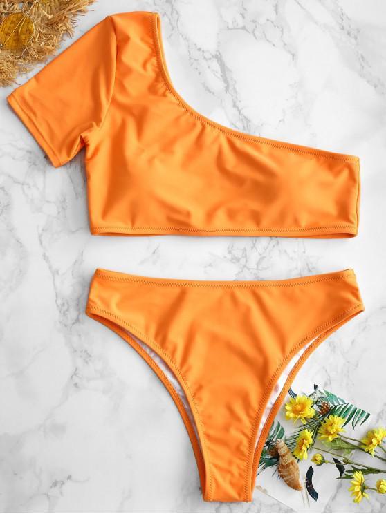 online ZAFUL One Shoulder Bikini - LIGHT SALMON L