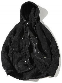 Vintage Corduroy Fluffy Lined Jacket - Black Xl