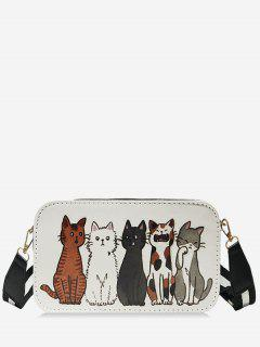 Kat Printed Crossbody Bag - Milk White