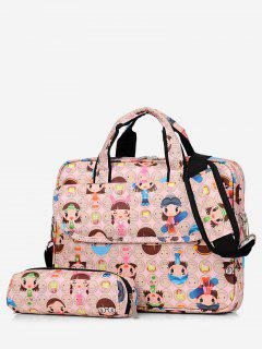 2Pcs Cartoon Pattern Handbag - Pink