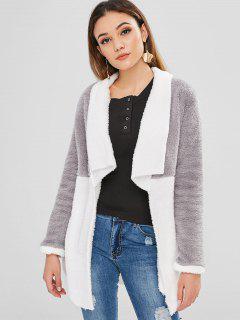 Manteau En Molleton Ouvert Avec Blocs De Couleur - Multi L