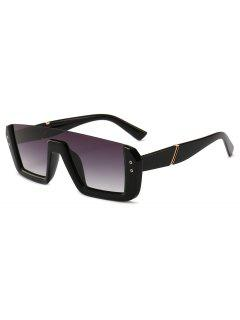 Retro Half Thick Frame Novelty Sunglasses - Black