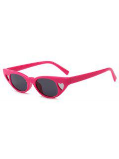 Stylish Heart Frame Plastic Frame Sunglasses - Cherry Red