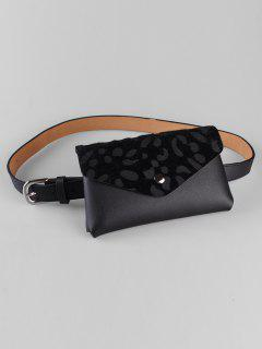 Unique Leopard Funny Bag Embellished Waist Belt Bag - Black