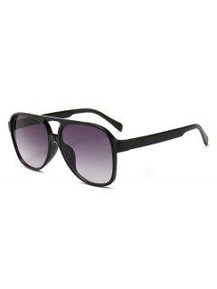 Unique Crossbar Full Frame Driving Sunglasses - Black