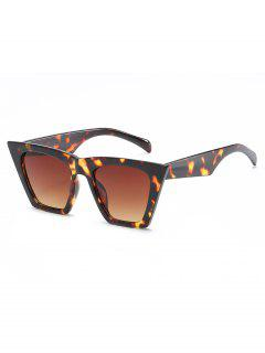 Stylish Flat Lens Catty Sunglasses - Deep Brown