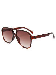 Unique Crossbar Full Frame Driving Sunglasses - Brown