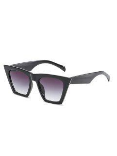 Stylish Flat Lens Catty Sunglasses - Black