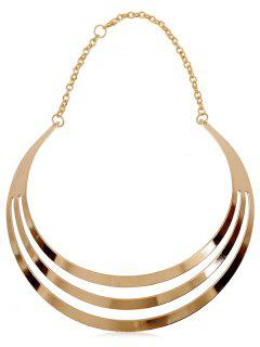 Hollow Out Design Alloy Necklace - Gold