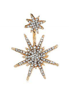 Rhinestoned Snowflake Printed Earrings - Gold