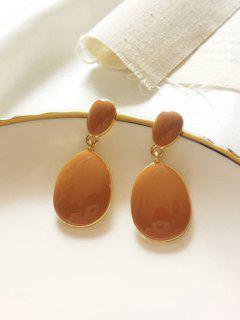 Glaze Water Drop Shape Drop Earrings - Sun Yellow