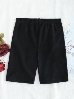 Pantalones Cortos De Motorista - Negro L