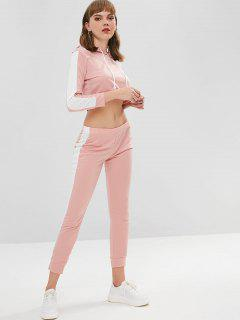 Two Tone Two Piece Set - Pig Pink L