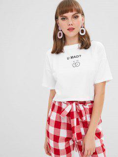T-shirt Court Graphique à Manches Courtes - Blanc