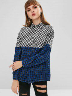 Contrasting Checkered Shirt - Multi S