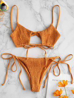 ZAFUL Bikini À Ficelle Serrée - Orange Tigre S