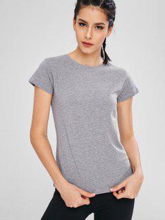 Heather Short Sleeve Sport T-shirt - Gray Xl