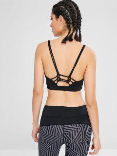 Braided Padded Sport Bra - Black L