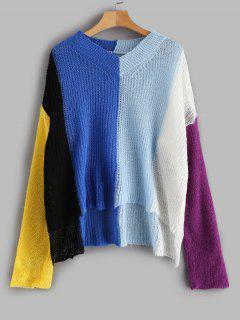 Pull Surdimensionné Multicolore à Rayure Large - Multi