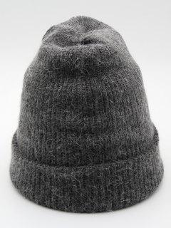 Solid Color Flanging Ski Beanie - Gray