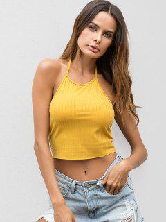 Camiseta Sin Mangas Con Cuello Halter - Caucho Ducky Amarillo S