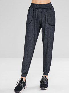 Heather Pocket Jogger Pants - Dark Gray M