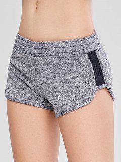 Heather Pocket Sport Shorts - Gray M