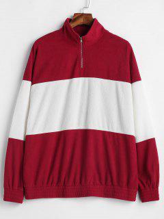 ZAFUL Half Zip Two Tone Tunic Sweatshirt - Multi M