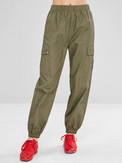 Pantalon Jogging Cargo De Sport  - Vert Armée S