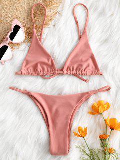 Ensemble De Bikini Soutien-Gorge Et String - Rose Léger  S
