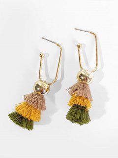 Bohemian Style Tassel Design Hollow Earrings - Tan