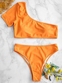 ZAFUL Ein Schulter Bikini - Leichter Salm L