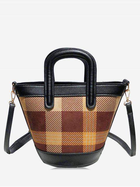 shops Statement Plaid Pattern Handbag - MULTI-C  Mobile