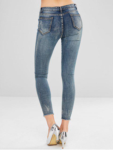Jeans ajustados con bajo deshilachado - Multicolor S Mobile