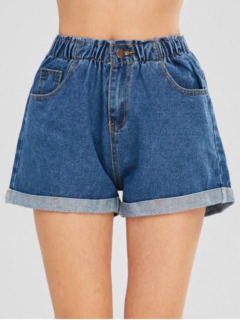 Short à Rebords en Jean - Bleu de Denim L Mobile