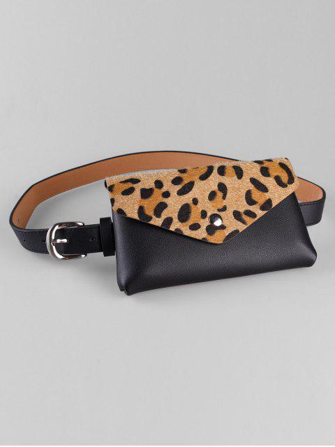 lady Unique Leopard Funny Bag Embellished Waist Belt Bag - APRICOT  Mobile