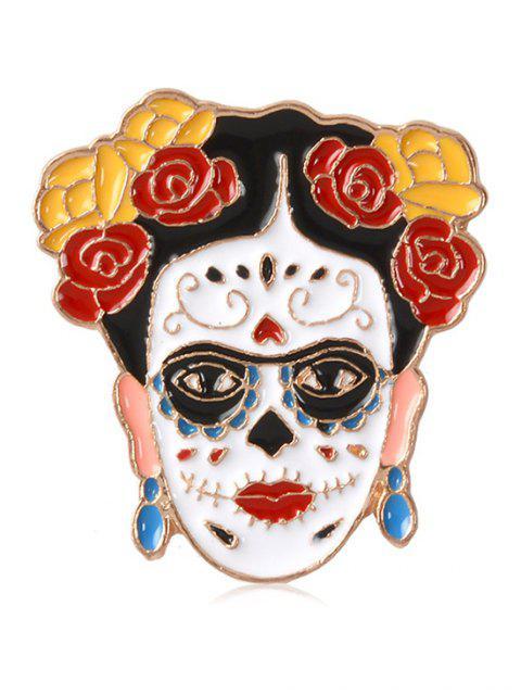 women Enamel Figure Flower Decorative Brooch - MULTI-B  Mobile