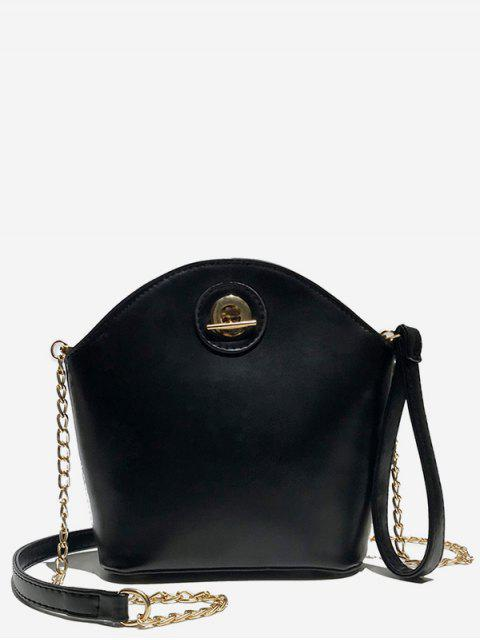 outfits Shell Shape PU Design Crossbody Bag - BLACK  Mobile