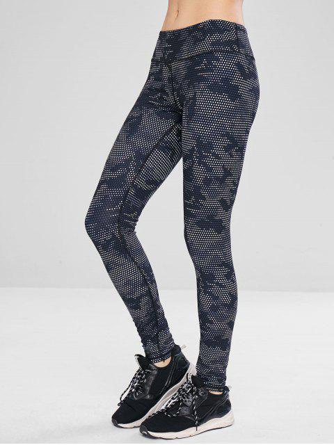 Camo Workout-Sport-Yoga-Leggings - Multi L Mobile