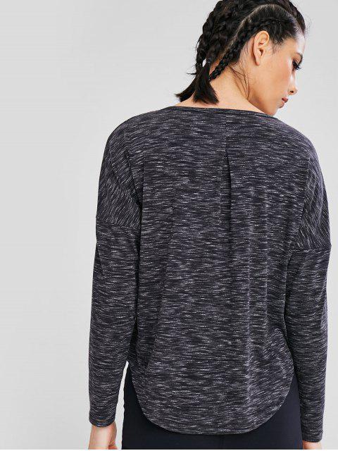 T-shirt Chiné Croisé - Gris L Mobile