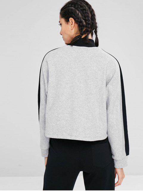Sportliches Farbblock-Sport-Sweatshirt - Multi L Mobile