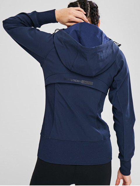 Reißverschluss-Kapuzen-Taschenjacke - Kadettenblau M Mobile