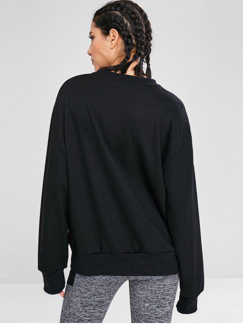 Sweat-shirt Tunique Surdimensionné - Noir M Mobile
