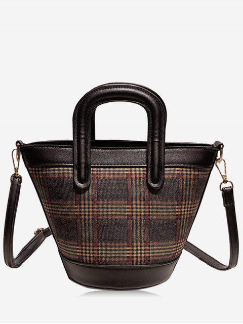women's Statement Plaid Pattern Handbag - MULTI-A  Mobile