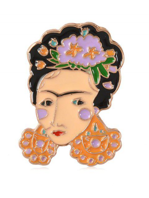 affordable Enamel Figure Flower Decorative Brooch - MULTI-F  Mobile