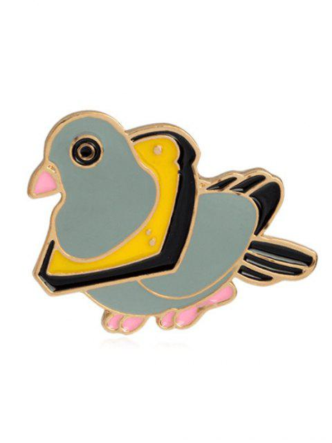ladies Cartoon Butterfly Parrot Design Brooches - MULTI-E  Mobile