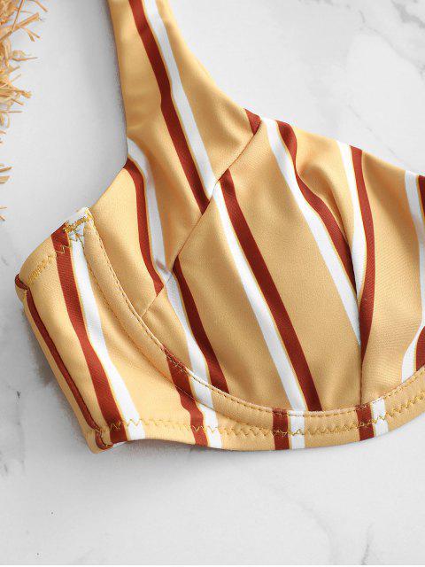 unique ZAFUL Stripe Underwire Bikini Set - MULTI-A L Mobile
