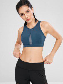 شبكة إدراج انقطاع الصدرية الرياضة - ازرق غامق L