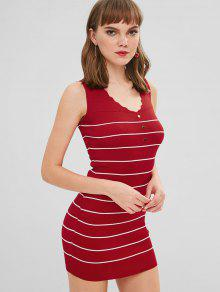 922b5335f2b Sleeveless Striped Bodycon Sweater Dress  Sleeveless Striped Bodycon  Sweater Dress ...